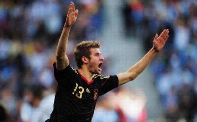 """Image result for 德国队球员托马斯·穆勒获得南非世界杯""""最佳新人奖"""""""
