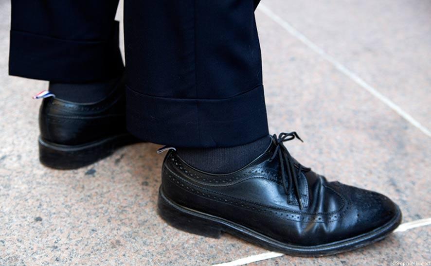 thom browne 皮鞋以及短版全内缝压边西装裤