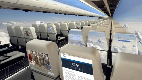 其中就包括用在飞机机舱里的塑料显示屏