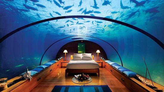 水下酒店手绘平面图